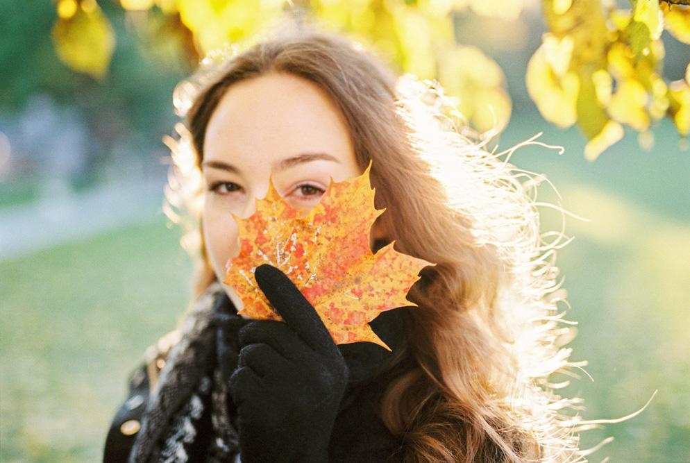 Autumn Portrait Photos Using Film