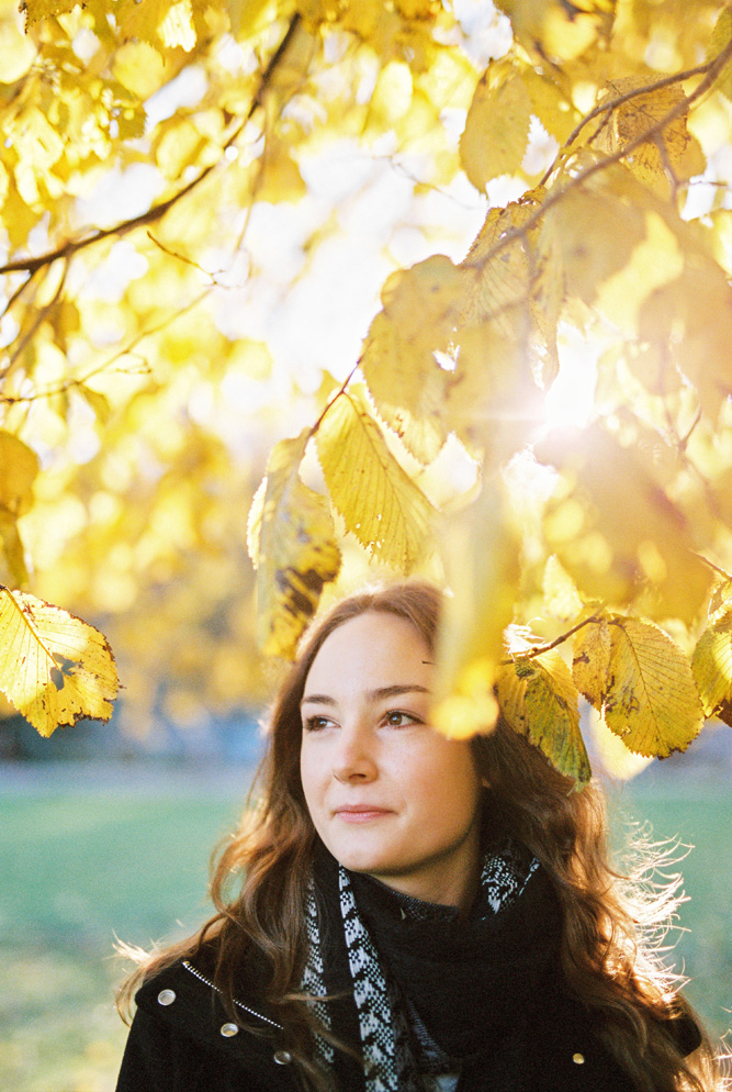 Autumn Portrait Photos Using Film